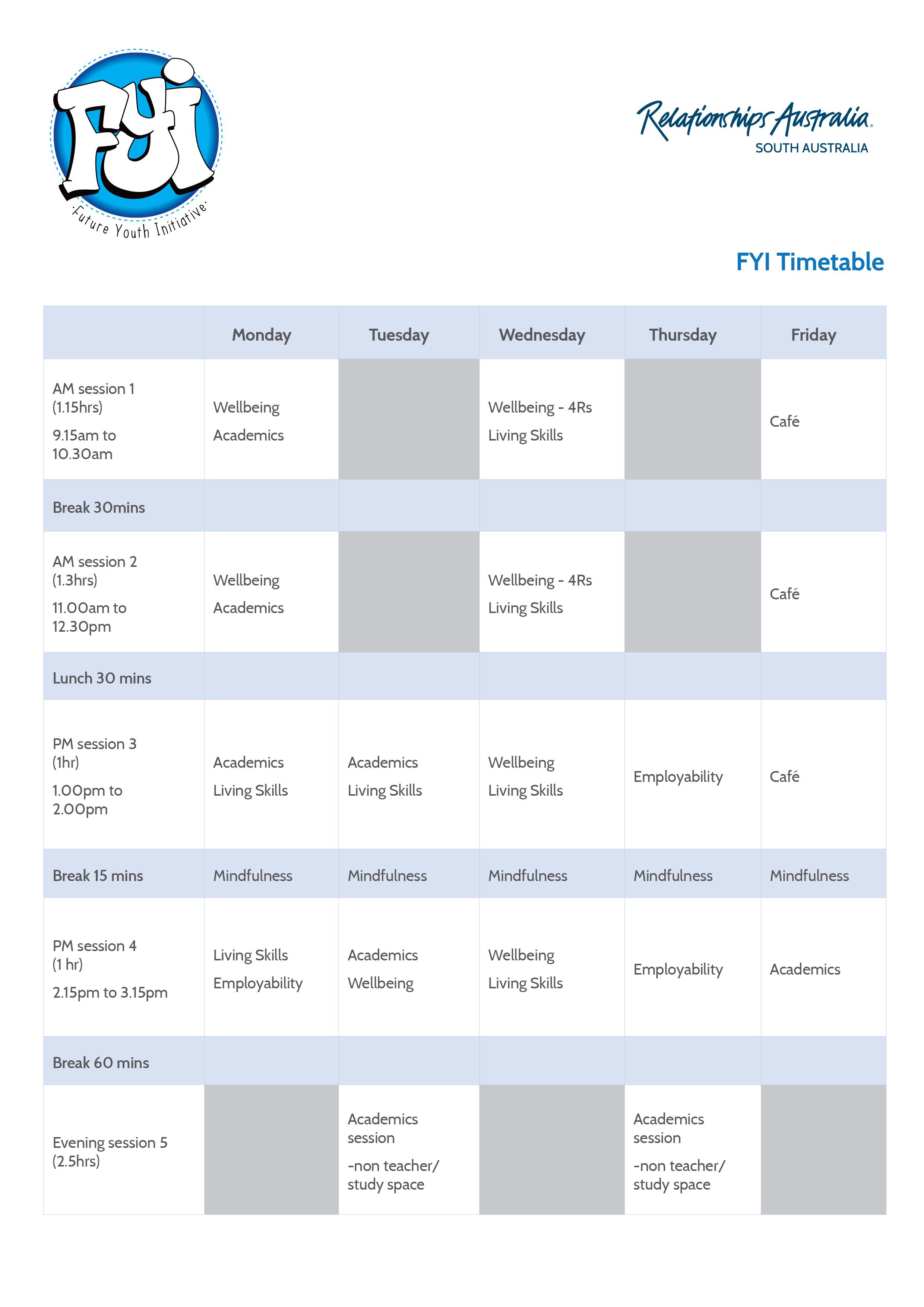 FYI_Timetable