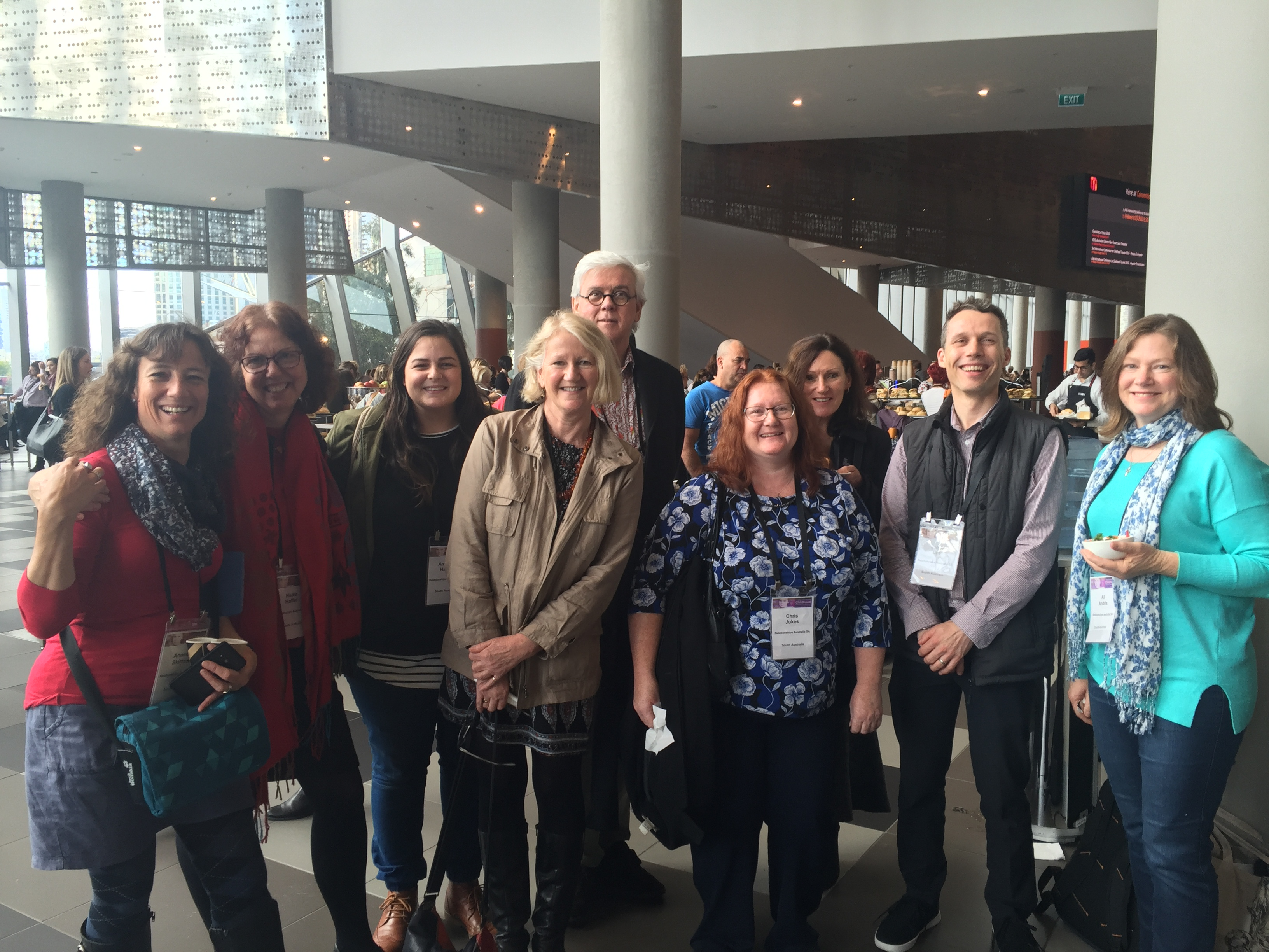 Relationships Australia SA staff at the Childhood Trauma Conference