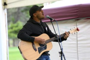 Nathan May performs at Veale Gardens