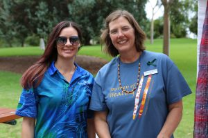 Relationships Australia SA staff members Skye and Elly at Veale Gardens